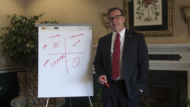 Video Thumbnail for AB&T's Jimmy Lindsey Discusses the HR formula: Skills + Attitude = Alignment
